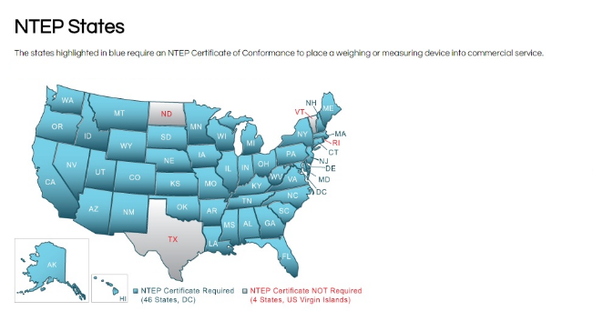 States that Require NTEP
